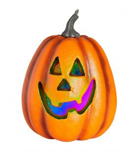 Veelkleurige Halloween Pompoen Met Licht, 23cm