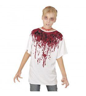 Hals Doorgesneden Bloederig T-Shirt