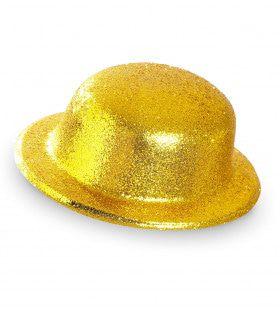 Showmaster Glitter Bolhoed, Goud