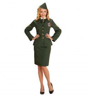 Army Lady Leger Officier Vrouw Kostuum