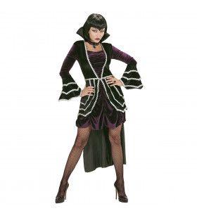 Gothic Vamp Wijde Mouw Vrouw Kostuum