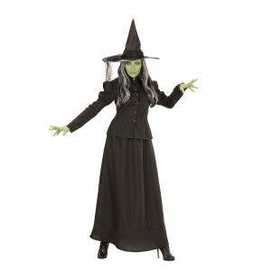 Lange Historische Heks Vrouw Kostuum