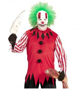 Sadface Horror Clown Man Kostuum