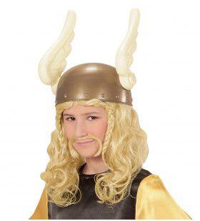 Viking Pruik, Kind Romein Met Snor