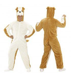 Dieren Onesie Pluche Bulldog Kostuum