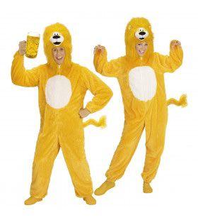 Dieren Onesie Pluche Gele Leeuw Kostuum
