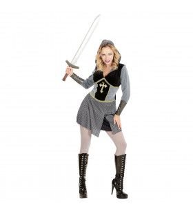 Madame Joan Of Arc (Kort) Vrouw Kostuum