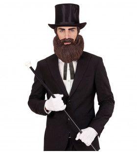 Baard En Snor Bruin Lincoln