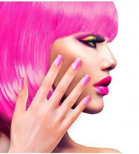 Nagels Airbrush Neon Rose 80s Lady