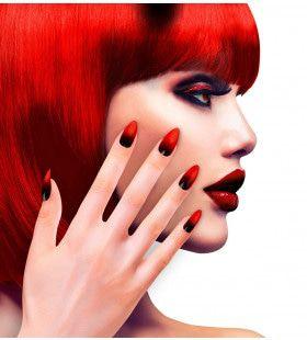 Duivelin Nagels Stiletto Rood / Zwart
