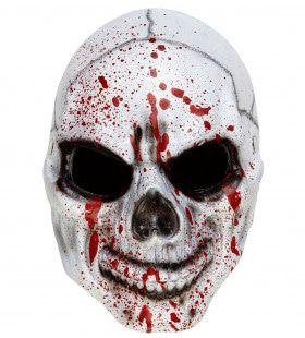 Halfgezicht Masker Bloederige Schedel Spotty