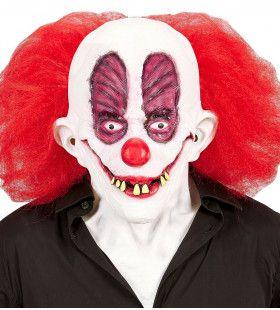 Masker Gekke Clown Slechte Gebit Met Haar Inclusief Nek