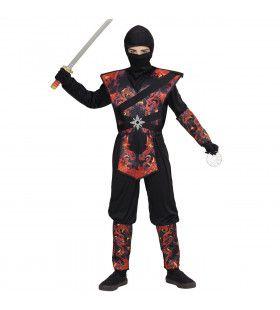 Ninja Vlammende Draak Dojo Jongen Kostuum