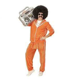80s Trainingspak Maaskant Fluweel Man Kostuum