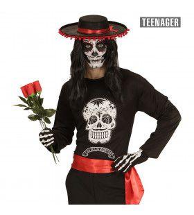 Dia De Los Muertos Mamba Tiener Shirt Jongen
