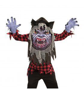Weerwolf Emoji Jongen Kostuum