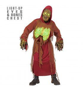 Zombie Skelet Elektro Jongen Kostuum