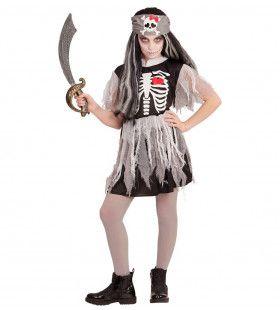 Rood Hart Pirate Meisje Kostuum