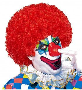 Afro Clownpruik Krullen, Rood