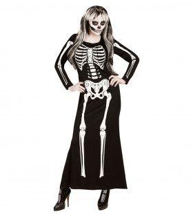 Lange Elegante Skeletjurk Vrouw