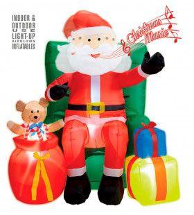 Opblaasbare Kerstman Met Geschenken 244 Centimeter