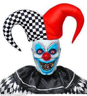 Akelige Nar Masker Met Harlekijnsmuts