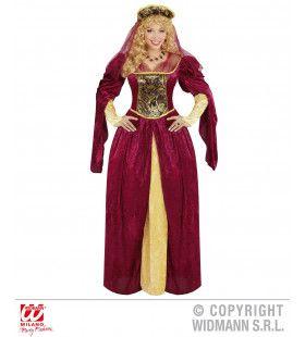 Edele Koningin Eleonora Vrouw Kostuum