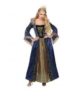 Middeleeuwse Koningin Gabriella Von Dantzig Vrouw Kostuum