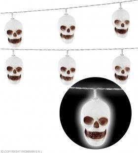 Lichtsnoer Schedels 2,5 Meter 10 Lampjes Op Batterij