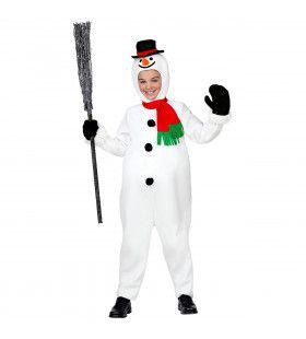 Kouwelijke Sneeuwpop Kerstvakantie Kostuum