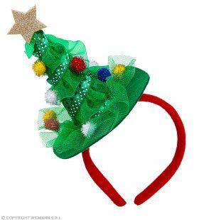 Versierde Kerstboom Hoofdband