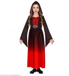 Gotische Schone Vanessa Rood Zwart Meisje Kostuum