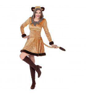 Zacht Zwoel Luipaard Savanne Vrouw Kostuum