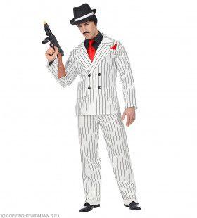 Omgekeerde Krijtstreep Gangster Man Kostuum