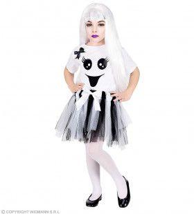 Charmant Wit Spook Meisje Kostuum