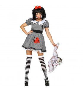 Enge Living Dead Doll Pop Vrouw Kostuum