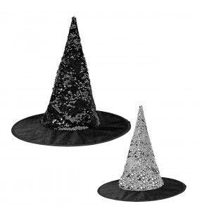 Omkeerbare Heksenhoed Zwart En Zilver