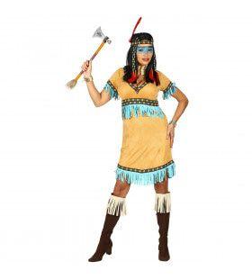 Flitsende Prairiehond Indiaan Vrouw Kostuum