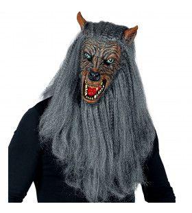 Masker Weerwolf Met Lange Wilde Vacht