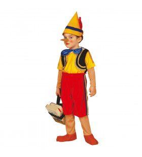 Speelgoed Houten Pop Pinokkio Kind Kostuum