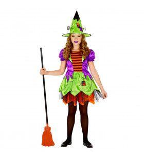 Akelig Giechelende Toverkol Halloween Meisje Kostuum