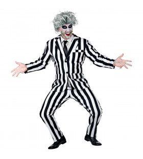 Streepjes Beetlejuice Spook Man Kostuum