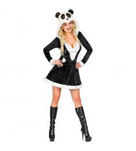Panda Heet Bamboebos China Vrouw Kostuum