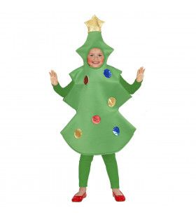 Mobiele Kerstboom Met Versiering Kind Kostuum