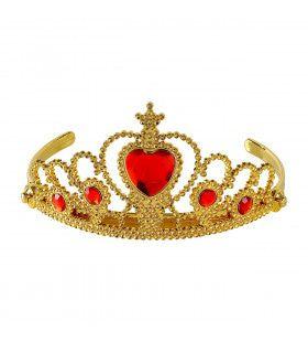 Gouden Tiara Met Rode Steentjes Prinses