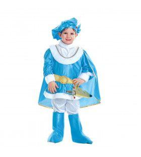 Charmante Blauwe Prins Verenigd Koninkrijk Jongen Kostuum