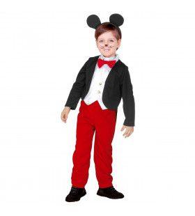 Malle Muis Mickey Tekenfilm Jongen Kostuum