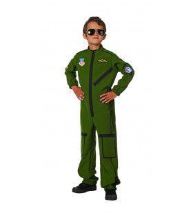 Straaljager Piloot Dare Devil Jongen Kostuum