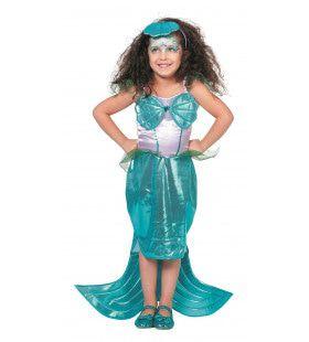 Zeemeermin Met Diadeem Meisje Kostuum