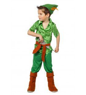 Vliegende Groene Peter Luxe Jongen Kostuum